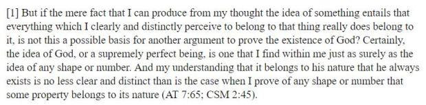 descartes ontological argument